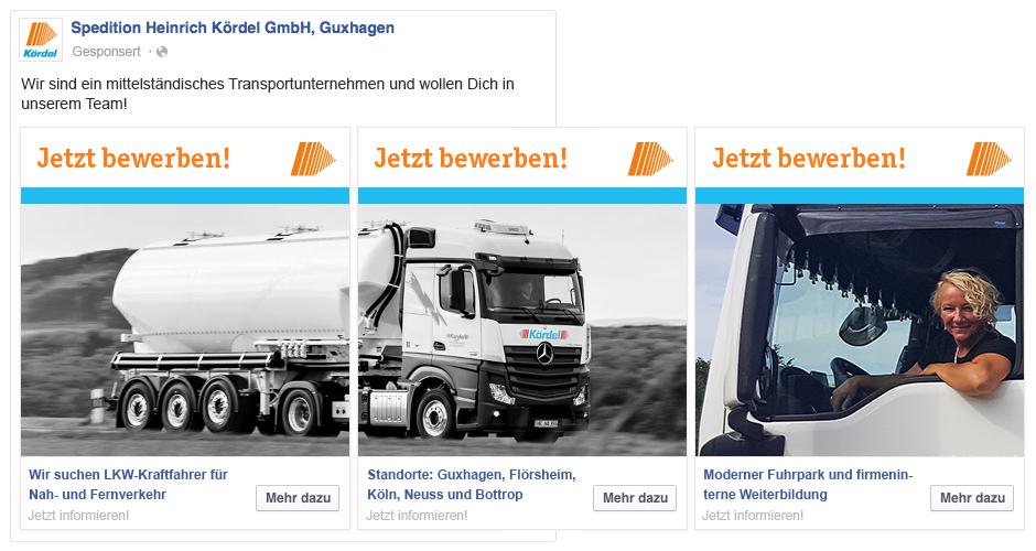 Anzeige LKW-Fahrer gesucht
